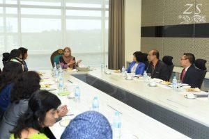 HRH Raja Zarith Sofiah binti Almarhum Sultan Idris Shah, Permaisuri Johor sharing her thoughts at the discussion session. [DYMM Raja Zarith Sofiah Binti Almarhum Sultan Idris, Permaisuri Johor berkongsi pandanganya semasa sesi perbincangan